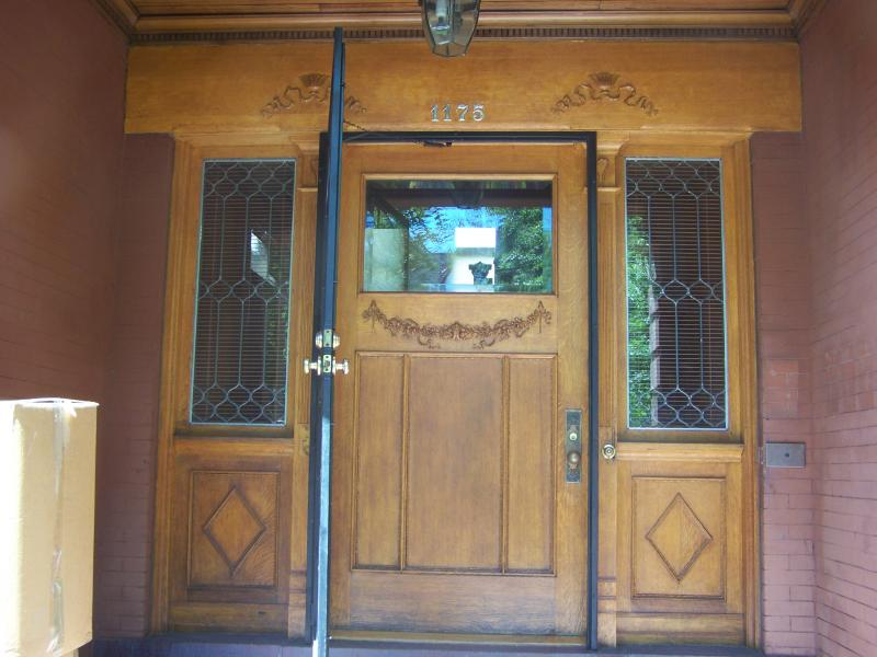 Doorway refinishing on turn of the century mansion in Capitol Hill